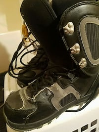 Black and gray snow board boots Clover, 29710