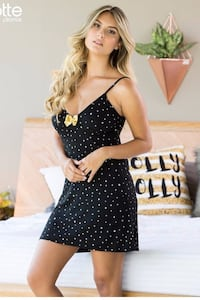 On sale!...new collection. beautiful pajama. black and golden stars