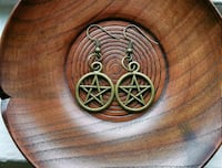 Brass Pentagram Earrings Baltimore, 21215