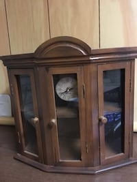 Clock cabinet with shelves New Milford, 07646