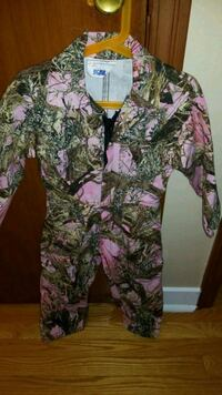 Girls Camo Coveralls