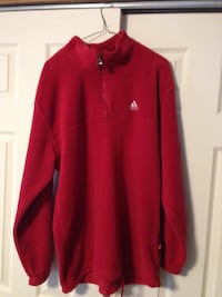 Adidas 1/2 Zip Red Men's Fleece Pullover Baltimore, 21236