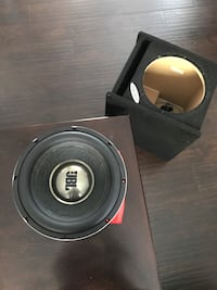 round black JBL subwoofer Los Angeles, 91402