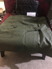Leather Soft Dark green Skirt by Giuliana Arlington