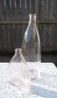 SET OF 2 LIGHT PINK GLASS VASES - $15 - EXCELLENT CONDITION EDMONTON