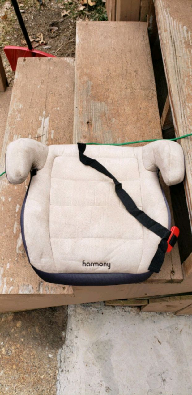baby's white and black Harmony booster seat, used for sale  Pekin
