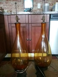 antique Glasa vase lamps