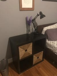 IKEA bed side table with wicker baskets 40 km