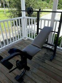 Bench and weights 140lbs and curl bar North Fort Myers, 33917