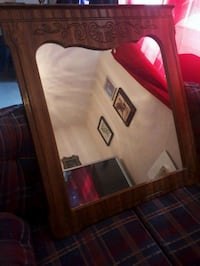 """38"""" x 42"""" vanity mirror made from hickory Simcoe"""