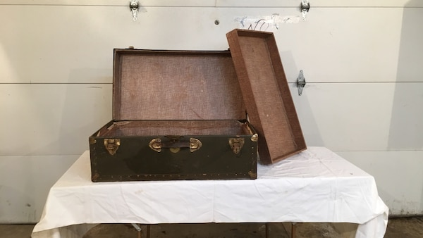 black and brown wooden trunk