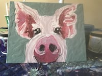 pink pig painting