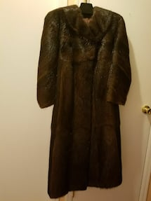 Beautiful Real Fur Full length coat,  Women size M