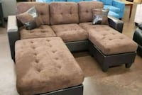 Brand New Plush Brown Microfiber Sectional Sofa  Silver Spring, 20910