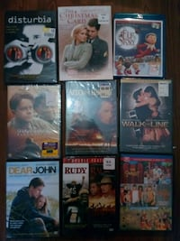 nine assorted DVD movie cases Thibodaux, 70301