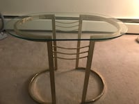 Side table with glass top North Vancouver, V7M 1J7