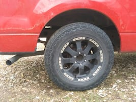 Rins in tires brand new. F150 ford