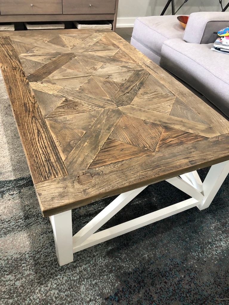 Restoration Hardware Parquet Coffee Table