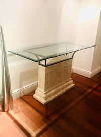 Console Table - Glass Top