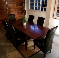 Dinning table with 6 leather chairs 3752 km