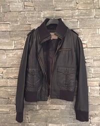 black leather zip jacket Ingeberg, 2323