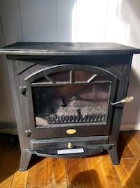 black and gray electric fireplace Knoxville, 37931