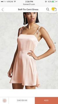 Straight pink silk dress from forever 21 Winnipeg, R2P 2Y6