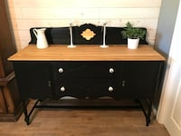 Brown and black wooden sideboard Les Cèdres, J7T