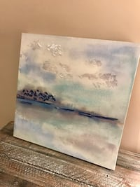 Abstract oceanic painting wall decor  Burnaby, V5C