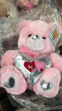 pink and white bear plush toy Vienna, 22181