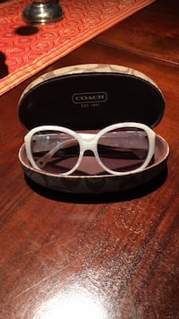 White framed COACH  sunglasses with case Mc Lean, 22102