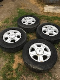 four gray 5-spoke car wheel with tire set Central Elgin, N5P