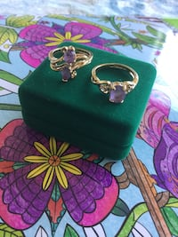 Assorted Amethyst gemstone rings / Size #5. each sold separately Vermeil  gold rings