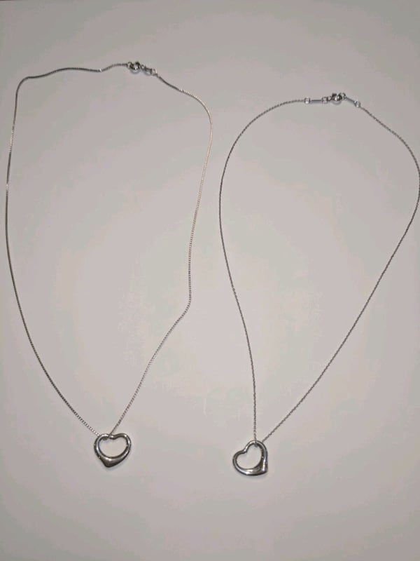 2 Tiffany small open heart pendant for $150 total 0