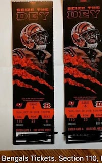 Bengals and Buccaneers tickets  Middletown, 45044