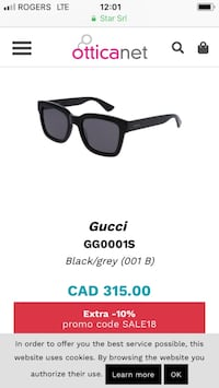 Gucci sunglasses (unisex) no scratch on the glass part,just a small dent on the frame as shown in the picture  Bolton, L7E 2J7
