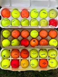 Assorted Neon Golf Balls like new!