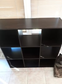 black wooden 9-cube shelf Ottawa, K2G 2S6