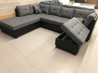 Brand new 4pc reversible sectional sofa with ottoman warehouse sale  多伦多, M1P 4Y5