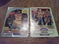 two basketball trading cards