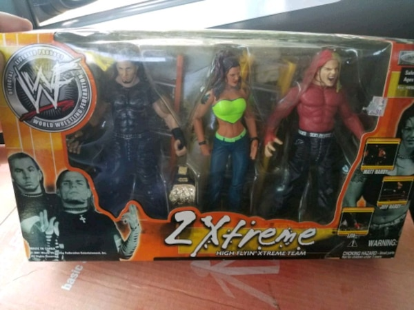 WWF Team Xtream 3pack Action Figures