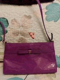 women's purple leather tote bag Vancouver, V5P 1A9