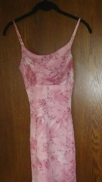 Pink & White Floral Dress with Spaghetti Straps size small