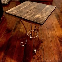 End Table with Gold Metal Base Pittsburgh, 15213