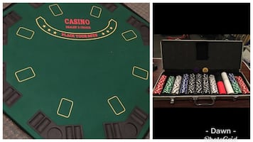 Casino/ poker Table with poker chips