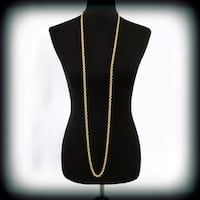 """Vintage Monet 56"""" Twisted Rolo Link Chain"""