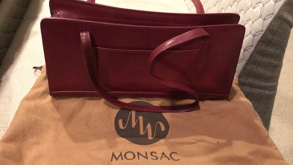 05ce5b6b77a Used Monsac Red Leather Handbag for sale in Glenview - letgo