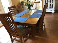 rectangular wooden table with six chairs dining set LAFAYETTE