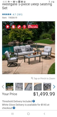 5 piece patio set (NEW)