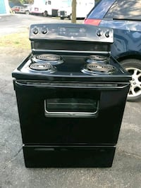 black 4-coil electric range oven Marlow Heights, 20748